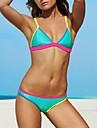 Bikini Cu Susținere Monocolor Push-up Polyester