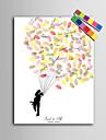 e-home® personalizate pictura de amprente panza printuri - oameni noi sub balon (include 12 fcolors de cerneală)