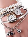 Pentru femei Ceas Brățară Ceas La Modă Quartz Aliaj Bandă Perlă Argint Auriu