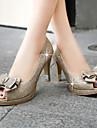 Femme Chaussures Synthetique Printemps Ete Automne Talon Aiguille Plateforme Noeud Paillette Brillante Pour Mariage Decontracte Habille