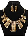 Pentru femei Set bijuterii Σκουλαρίκια / Coliere - Vintage / Petrecere / Birou Geometric Shape Auriu Seturi de bijuterii Pentru