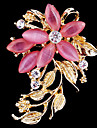 femei cristal opal floare brosa pentru decorare petrecere de nunta eșarfă, bijuterii fine