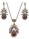 Seturi de bijuterii Sintetic Ruby Pietrele Lunilor Pietre sintetice Σκουλαρίκια Lănțișor Pentru Cadouri de nunta