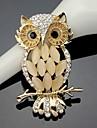Dame Broșe La modă Cute Stil costum de bijuterii Cristal Bufniță Bijuterii Pentru Nuntă Petrecere Ocazie specială Zi de Naștere Zilnic