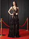 Linia -A Gât V Mătura / Trenă Dantelă Seară Formală Rochie cu Dantelă de TS Couture®
