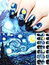 1 Autocollant d\'art de clou Autre decorations Bande dessinee Abstrait Adorable Punk Maquillage cosmetique Nail Art Design