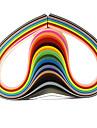 120pcs 5mmx53cm papier quilling (24 pcs couleur x5 / couleur) de bricolage decoration d\'art