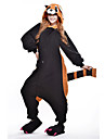 kigurumi Pyjamas New Cosplay® Ours Raton laveur Collant/Combinaison Fete / Celebration Pyjamas Animale Halloween Noir Mosaique Polaire