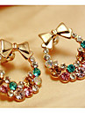 Cercei Set Ștras imitație de diamant Aliaj Animal Shape Fluture Bijuterii Pentru Petrecere Zilnic Casual 1 pereche