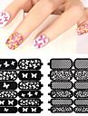 1pcs nail sticker template-Moules 3D en  acrylique pour ongles-Doigt / Orteil- enFleur-7.5*9cm