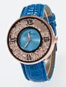 Pentru femei femei Quartz Piele PU Matlasată Negru / Alb / Albastru imitație de diamant Analog Charm Modă - Trandafiriu Rosu Albastru Un an Durată de Viaţă Baterie / Jinli 377