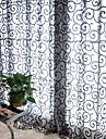Un Panou Tratamentul fereastră Țara Sufragerie Poliester Material perdele, draperii Pagina de decorare For Fereastră