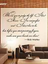 Cuvinte & Citate Perete Postituri Autocolante perete plane Autocolante de Perete Decorative Material Detașabil Re-poziționabil Pagina de