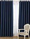 Margine cu inele de trecere Pliuri Triple Două Panouri Tratamentul fereastră Designer  , Jacquard Desene Animate Sufragerie Amestec In /