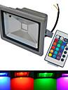 6000-6500/3000-3200 lm LED-strålkastare 1 lysdioder COB Vattentät Fjärrstyrd Varmvit Kallvit RGB AC 85-265V