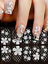 1 Autocollant d'art de clou Autocollant dentelle Autocollants 3D pour ongles Fleur Maquillage cosmétique Nail Art Design