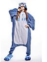 Pyjamas Kigurumi Chouette Combinaison de Pyjamas Costume Polaire Bleu Cosplay Pour Adulte Pyjamas Animale Dessin anime Halloween Fete /