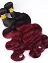 Cheveux Bresiliens Ondulation naturelle / Classique Cheveux Vierges A Ombre 3 offres groupees 12-26pouce Tissages de cheveux humains