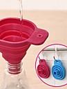 silicon gel unelte pliabile pliabile pâlnie stil pâlnie de bucătărie pentru gătit (culoare aleatorii)