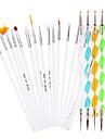 20 st / uppsättning nagel konst utspridda verktyg (15 stycken manikyr borstar + 5 st prickar penna) nagel konst penna