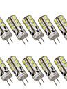 10pcs 2 W 200 lm G4 Becuri LED Bi-pin T 24 LED-uri de margele SMD 2835 Decorativ Alb Cald / Alb Rece 12 V / 10 bc / RoHs