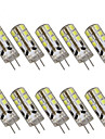 1w g4 ledd bi-pin-lampor t 24 smd 2835 100-150lm varm vit kall vit 2800-3000k / 6000-6500k dekorativ dc 12v
