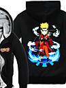 Inspirat de Naruto Naruto Uzumaki Anime Costume Cosplay hanorace Cosplay Imprimeu Manșon Lung Vârf Pentru Bărbătesc