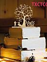 Διακοσμητικό Τούρτας Θέμα Πεταλούδα Κλασσικό ζευγάρι Ρητίνη Γάμου με 1 OPP