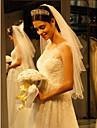 One-tier Beaded Edge Wedding Veil Fingertip Veils 53 Beading Tulle