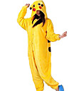 Kigurumi-pyjamas pika pika Onesie-pyjamas Kostym Flanell Gul Cosplay För Vuxna Pyjamas med djur Tecknad serie halloween Festival / högtid