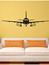 Forme Transport Stickers muraux Autocollants avion Autocollants muraux decoratifs, PVC Decoration d\'interieur Calque Mural Mur