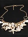 Pentru femei Coliere Star Shape Perle Scoică Aliaj Design Unic Festival/Sărbătoare La modă Strat dublu Bijuterii PentruPetrecere Ocazie