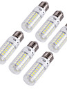 4W E14 E26/E27 Ampoules Maïs LED T 69 diodes électroluminescentes SMD 5730 Décorative Blanc Chaud Blanc Froid 280lm 3000/6000K AC 100-240