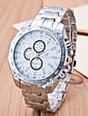 Bărbați Quartz Ceas de Mână Ceas Casual Oțel inoxidabil Bandă Charm Argint