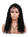 Äkta hår Spetsfront Peruk Lockigt 130% Densitet 100 % handbundet Afro-amerikansk peruk Naturlig hårlinje Korta Mellan Lång Dam Äkta