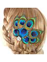 2016 novo fascinador cabelo acessorios clip em acessorios de penas feitos a mao