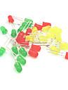 5mm condus diode emițătoare de lumină set - rosu + galben + verde (30buc)
