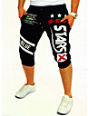 Bărbați Activ Bumbac Activ Pantaloni Scurți Pantaloni Sport Pantaloni - De Bază, Imprimeu Scrisă