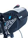 ROSWHEEL Cykelväska 3L Väska till cykelstyret Fuktighetsskyddad Vattentät dragkedja Bärbar Stötsäker Cykelväska PU läder Duk 400D Nylon