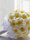"""Flori de Nuntă Rotund Crini Bujori Buchete Nuntă Petrecere / Seară Poliester Satin Spumă 7.87""""(Approx.20cm)"""