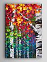 HANDMÅLAD Landskap Vertikal, Moderna Duk Hang målad oljemålning Hem-dekoration En panel