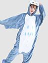 Pijama Kigurumi Bufniță Pijama Întreagă Costume Flanel Lână Albastru Cosplay Pentru Sleepwear Pentru Animale Desen animat Halloween