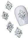 10st 3d klar strass Diamond Flower DIY tillbehör legering nagel konst dekoration