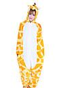 Kigurumi-pyjamas Giraff Onesie-pyjamas Kostym Korallfleece Orange Cosplay För Vuxna Pyjamas med djur Tecknad serie halloween Festival /
