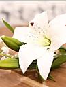 1 1 ramură Poliester / Plastic Crini Față de masă flori Flori artificiale 14.2*5.9inch/36*15cm