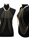 Pentru femei Bijuterii de corp Lanț de Talie Colier ham Corp lanț / burtă lanț Sexy European Modă Bikini Placat Auriu Bijuterii Pentru