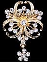 Dame Broșe imitație de diamant La modă Auriu Bijuterii Nuntă Petrecere Ocazie specială Zi de Naștere Zilnic Casual