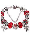 Pentru femei Dame Brățări cu Talismane Brățări Bangle Bratari Strand Silver Bracelets Adorabil Ștrasuri Durabil La modă Teracotă Ștras
