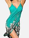 Pentru femei Șal - Fără Spate Imprimeu, Floral Cu Bretele Wrap