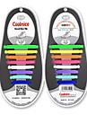 coolnice nici o cravată de silicon șiret gel de silicon gel stretch din sport de agrement (se aplică 30-37 cn dimensiunea pantof)